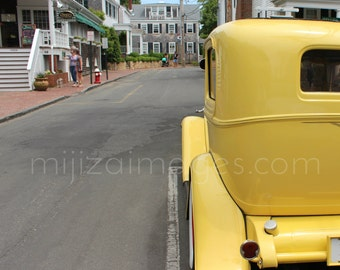 Vintage Yellow Car Edgartown Martha's Vineyard