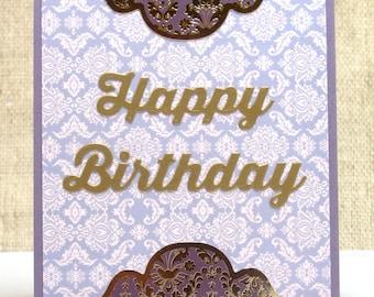 Elegant Birthday Card- Happy Birthday- Birthday Cards- Wife Birthday Card