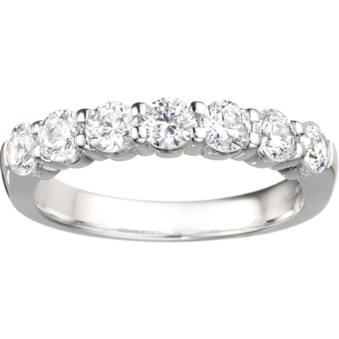 eternity zirconia baguette bands plated ring set sterling rhodium cubic band channel silver default
