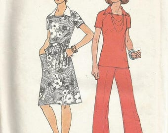 Vintage Simplicity 6384 Dress, Top and Pants Pattern SZ 14  Bust 36""