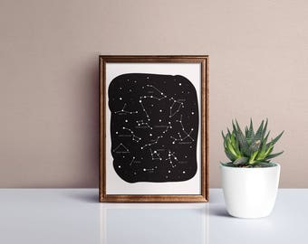 Constellation Wall Decor Print