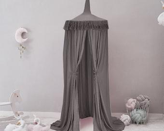 Gray bed canopy,  play canopy, Baldachin, play house, play Tent, Reading nook, baldachin, Spiel Baldachin, Hängende Spielzelt, light gray