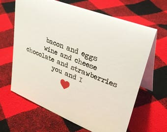 "You And I Card // Valentine's Day // Couples // Love // Foodie // ""we go together"""