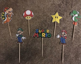 Super Mario Brothers Cupcake Toopers--set of 12