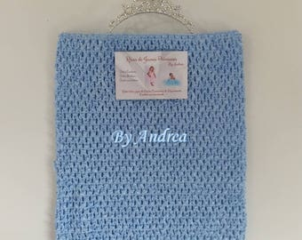Corset for the stretchy crochet tutu dresses, sky blue, size 6-8 years
