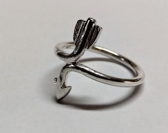 Silver ring, Arrow ring, Silver arrow ring ,Archery Jewelry, Archery Jewellery