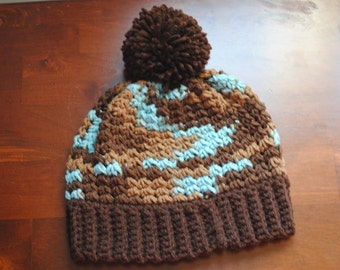 Crochet Beanie with Pompom