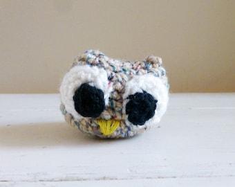 Feather the Owlette, Cute Stuffed Animal, Crochet Stuffed Animal