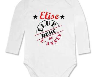 One personalized with name year baby Bodysuit