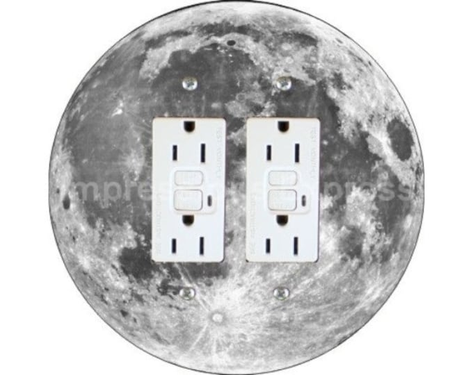 Featured listing image: Moon from Space Double GFI Outlet Plate Cover