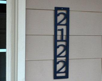 Custom Address Marker - Vertical House Number - Metal Address Sign