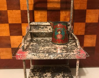 Antique German Tin Doll Furniture Wash Stand