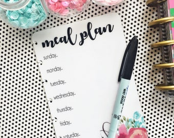CLASSIC Happy Planner Meal Planner, dry erase Planner Insert, wet erase insert, meal planner, Happy Planner Dashboard, Planner Insert MAMBI