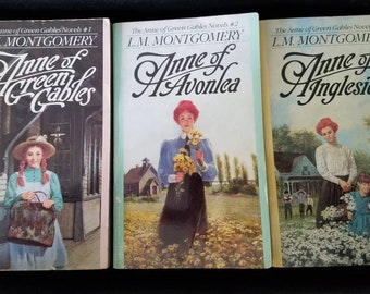 3 Vintage Anne of Green Gables Books by L.M. Montgomery 1992