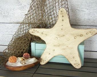 Starfish Sign Rustic Starfish Beach House Decor Wooden Starfish Decor Starfish Nursery Starfish Beach Decor Starfish Wall Decor Starfish Art