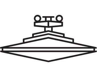 Star Destroyer Decal Star Wars Themed Decal