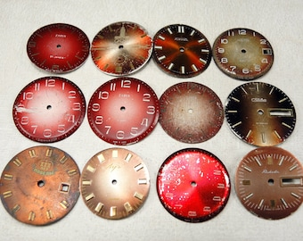 Vintage Watch Faces - set of 12 - c56