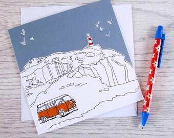 Campervan card 'Sea view'