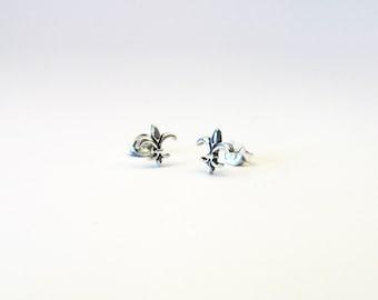 Bourbon Lily Silver 925 earrings fleur de lys fleur de lis