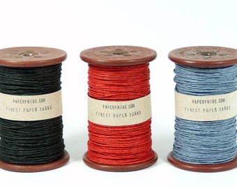 Paper Twine on a Old Wooden Bobbin - Paper Cord - DIY - Old Spool - Back To School!