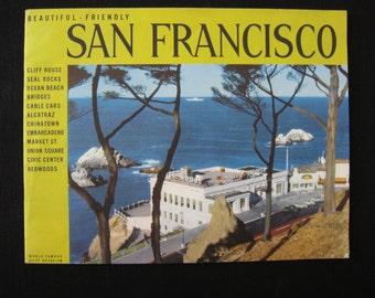 Beautiful Friendly San Francisco Souvenir Book 1948 Color Photos and Panoramic Color Photo of City