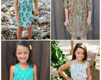 Instant Download- Romper SKIRT ONLY (Sizes 9/12 months to 10) PDF Sewing Pattern and Tutorial