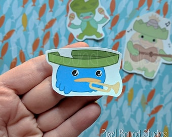 Chibi Lotad/Lombre/Ludicolo Stickers and Magnets