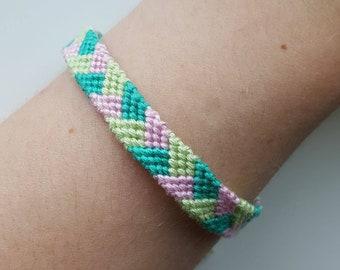 Pastel braid friendship bracelet / mermaid colours / macrame yarn jewellery