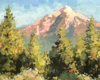View of Shasta and trees