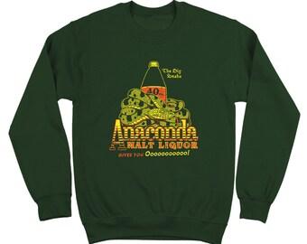 Anaconda Malt Liquor Black Funny Movie Dynamite Little Richard Crewneck Sweatshirt DT2150