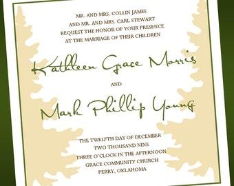 Peaceful Pine - Wedding Invitations
