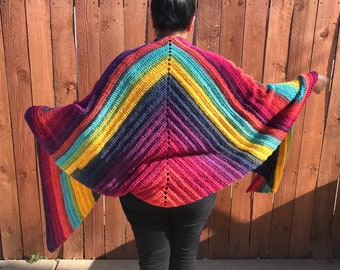Crochet Triangles Scarf | Wrap | Blanket Scarf | Triangle Wrap | Handmade Shawl