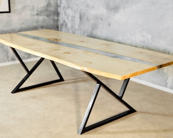"""Dining table """"Polar"""" - Solid wood (Maple wood)"""