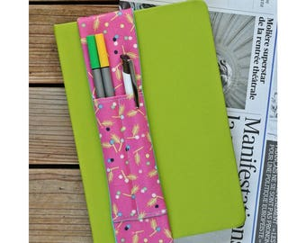 Notebook pen holder - Patterns