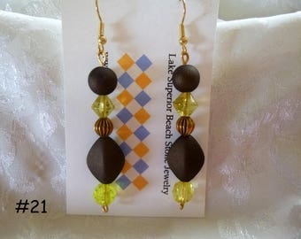 Clearance Sale:  Dangle Earrings Your Choice, Five Different Pairs on Each Listing E21-25