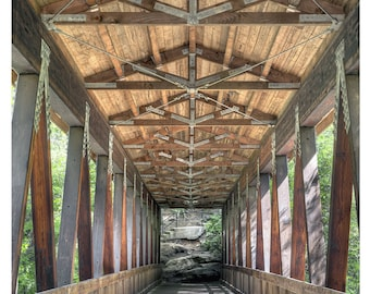 Covered Bridge - Art & collectible photo Giclee prints for home decor or gift suggestion for any occasion.