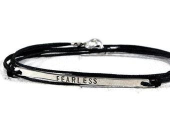 Sterling Silver Tag Bracelet. Skinny Bar Bracelet. Personalized Bracelet Women. Mantra Bracelet. Minimalist Jewelry. Graduation Gift For Her