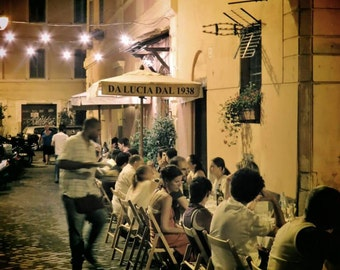 Trastevere Restaurant Rome Print, Rome Trastevere Print, Trastevere Rome Photo, Restaurant Photo, Italy Restaurant Print, Trastevere Art