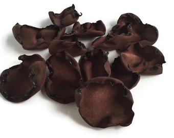 Chocolate Brown rose petals, flower petals, Wedding decor, flower girl petals, bridal decor, bridal shower, baby shower, table decor