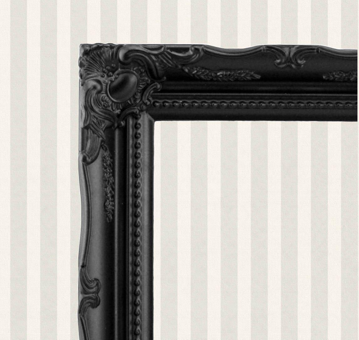 Black Baroque Picture Frame Ornate Frame Vintage Style Frame Black ...
