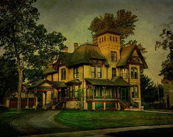 Historic House, Vintage House, Neenah, Wisconsin, Fox Cities, Home Decor, Fine Art Print, Large Wall Art
