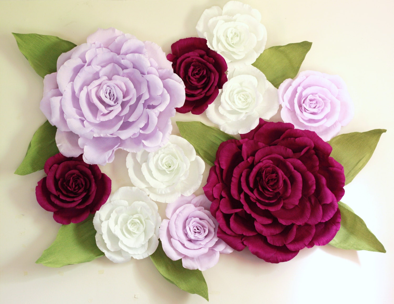 Giant paper flower wall display 5ft x 5ft purple wedding zoom mightylinksfo
