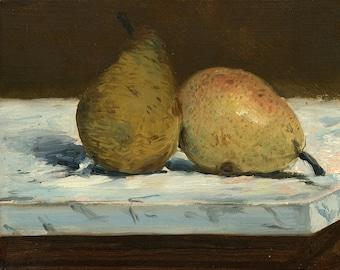 "Edouard Manet : ""Pears"" (1880) - Giclee Fine Art Print"