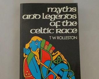 Celtic Myths Legends by TW Rolleston 1990 Irish History Paperback
