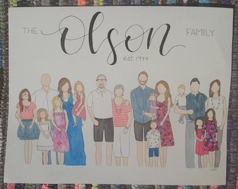 Family Watercolor Painting