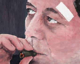 Art Print // JFK - Acrylic Painting