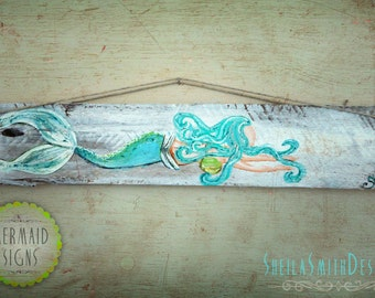 Decorative Wall Decor, Old recycled barn wood, Mermaid Signs by SheilaSmithDesigns©