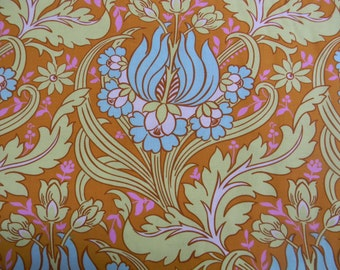 Amy Butler Soul Blossoms Temple Tulips Cotton Fabric in Cinnamon AB64