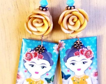 Yellow Rose Frida Earrings