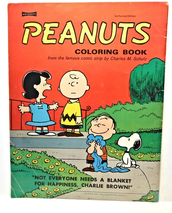 CACAHUETES para colorear libro tebeo Charles M. Schulz